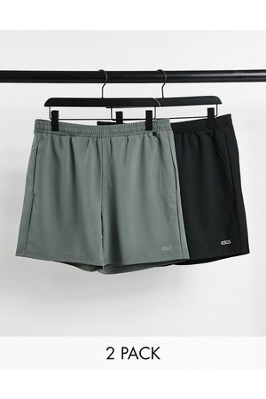 ASOS 4505 icon training shorts in mid length with quick dry 2 pack SAVE