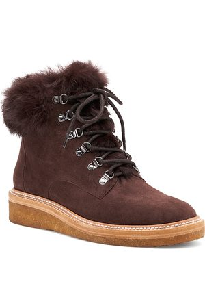 Botkier Women Snow Boots - Women's Winter Leather Lace Up Boots