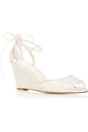 Bella Belle Women's Pamela Lace Wedge Sandals