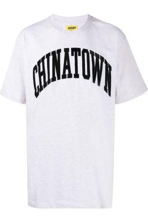 Chinatown Market Men T-shirts - Corduroy logo cotton T-shirt - Grey