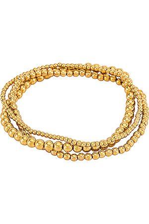 Natalie B Jewelry Bella Trois Bracelet Set in Metallic .