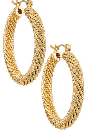 Natalie B Jewelry Tuli Hoop Earring in Metallic .
