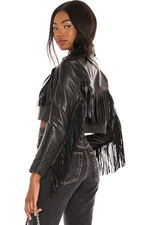 Understated Leather Malboro Cropped Blazer in .