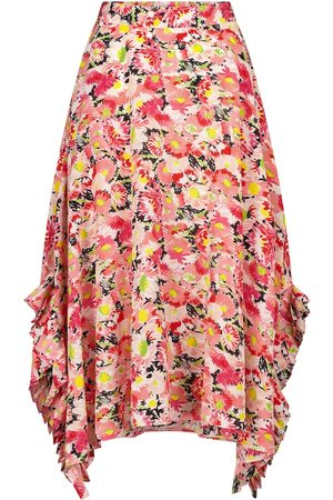 Stella McCartney Ashlyn floral silk midi skirt