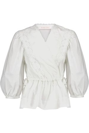 Chloé Broderie anglaise cotton blouse