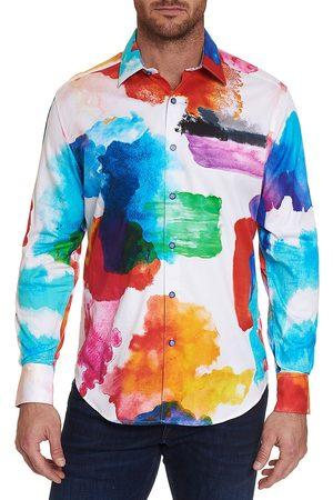 Robert Graham Men Long sleeves - Men's Work Of Genius Classic-Fit Watercolor Sport Shirt