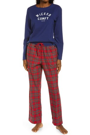 L.L.BEAN Plus Size Women's Camp Logo Graphic Pajamas