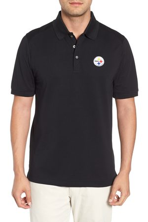 Cutter & Buck Men's Pittsburgh Steelers - Advantage Regular Fit Drytec Polo