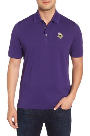 Cutter & Buck Men's Minnesota Vikings - Advantage Regular Fit Drytec Polo