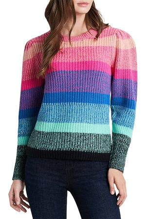 Vince Camuto Long Sleeve Color Blocked Sweater