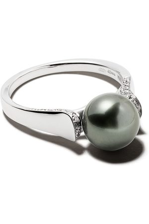 Yoko London 18kt white gold Classic Tahitian pearl and diamond ring - 7