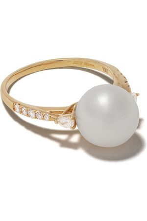 Yoko London 18kt yellow gold Classic Freshwater pearl and diamond ring - 6