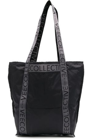 VeeCollective Women Tote Bags - Large logo-patch tote bag