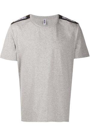 Moschino Logo-tape short-sleeve T-shirt - Grey