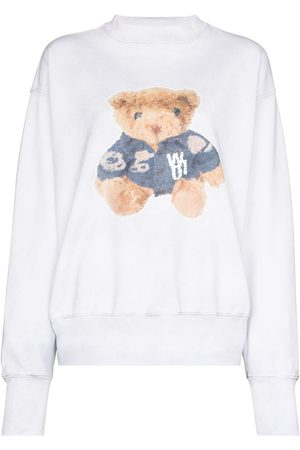 We11 Done Teddy-print cotton sweatshirt