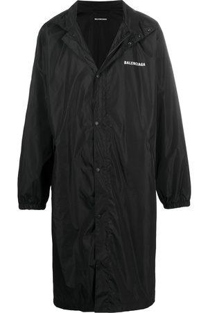 Balenciaga Men Coats - Slogan print long-length coat