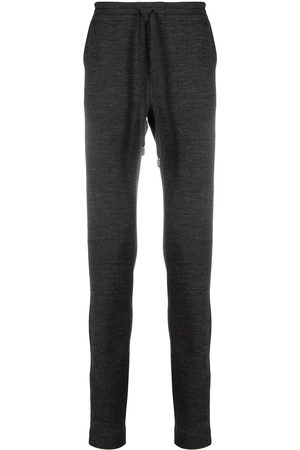 Dolce & Gabbana Slim-fit wool track pants - Grey