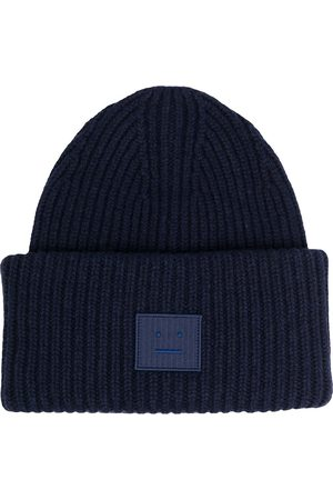 Acne Studios Beanies - Face-patch knitted beanie