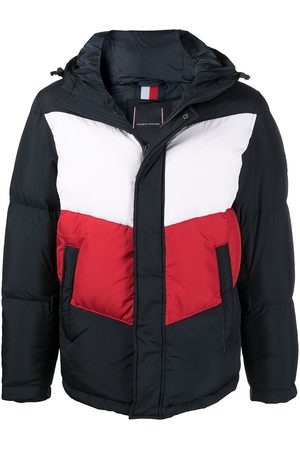 Tommy Hilfiger Colour-block puffer coat