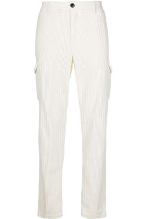 ELEVENTY Corduroy trousers with patch pocket detail - Neutrals