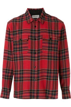 Saint Laurent Check print button-up shirt