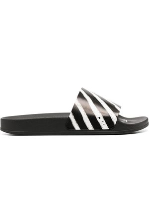 OFF-WHITE Men Sandals - Spray stripes slides
