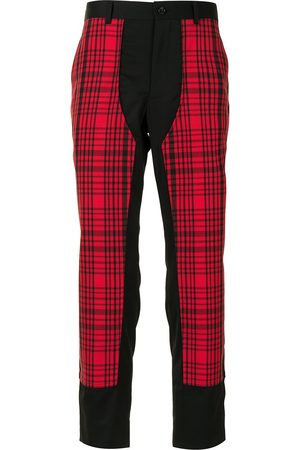 Comme des Garçons Panelled checked trousers