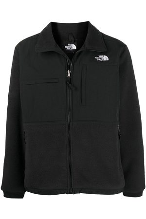 The North Face Logo-embroidered zip-up jacket
