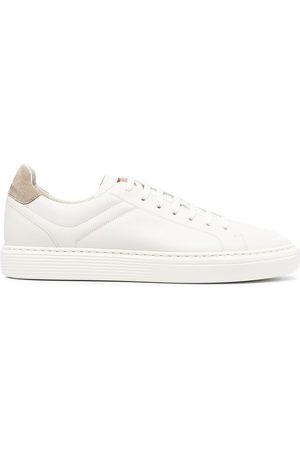 Brunello Cucinelli Semi-polished calfskin sneakers
