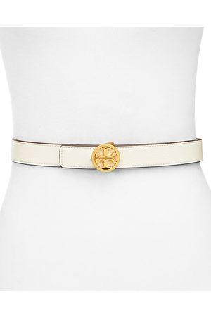 Tory Burch Women's Reversible Leather Logo Belt