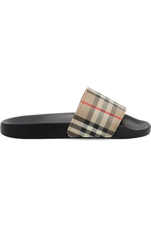 Burberry 10mm Furley Check Slide Sandals