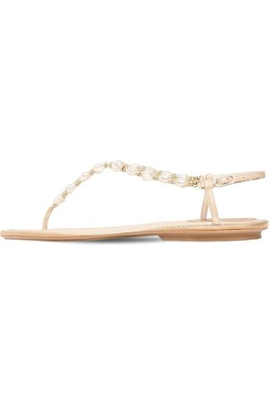 RENÉ CAOVILLA 10mm Embellished Satin Thong Sandals