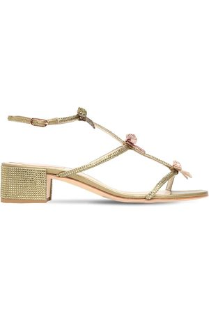RENÉ CAOVILLA 40mm Embellished Satin Sandals