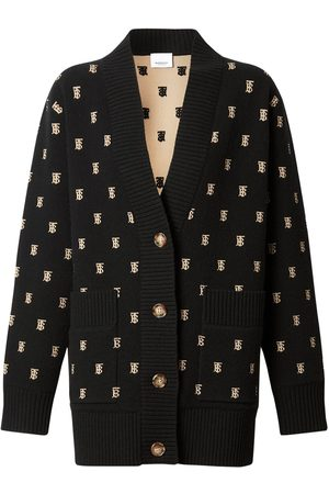 Burberry Palena Wool Blend Knit Cardigan