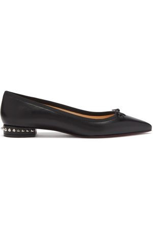 Christian Louboutin Women Ballerinas - Hall Spike-embellished Leather Ballet Flats - Womens