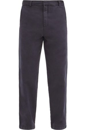 Another Aspect Garment-dyed Cotton-twill Chino Trousers - Mens - Navy