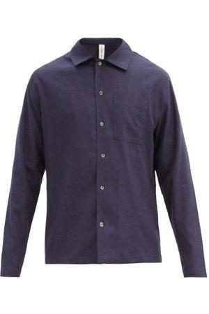 Another Aspect Another Shirt 2.1 Raw-silk Shirt - Mens - Navy