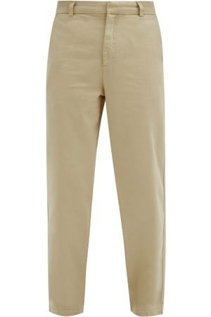 Another Aspect Garment-dyed Cotton-twill Chino Trousers - Mens - Light