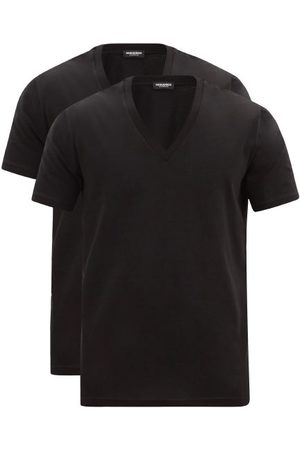 Dsquared2 Pack Of Two V-neck Cotton-blend T-shirts - Mens