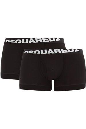 Dsquared2 Men Pack Of Two Logo-jacquard Cotton-blend Trunks - Mens
