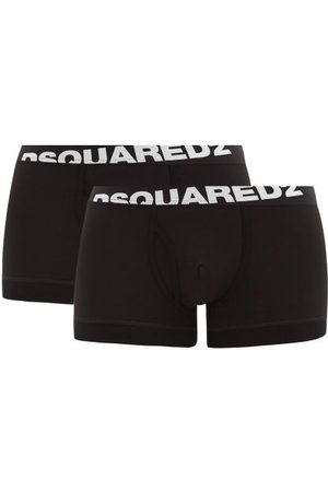 Dsquared2 Pack Of Two Logo-jacquard Cotton-blend Trunks - Mens