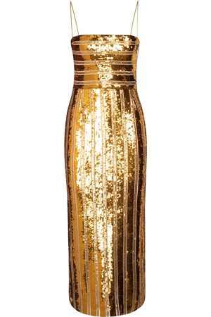GALVAN Stargaze sequined slip dress