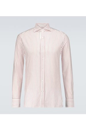 Brunello Cucinelli Striped long-sleeved shirt