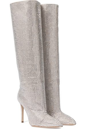PARIS TEXAS Embellished suede knee-high boots