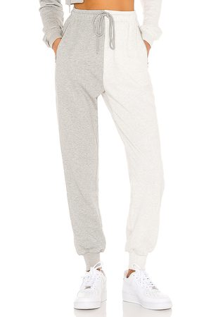 superdown Renna Two Tone Sweatpants in Grey.