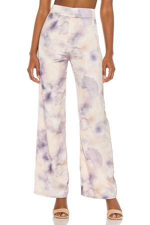 Song of Style Blaire Pant in Cream, Purple.
