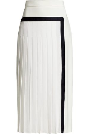 Max Mara Women's Pinne Pleated Midi Skirt - - Size 12