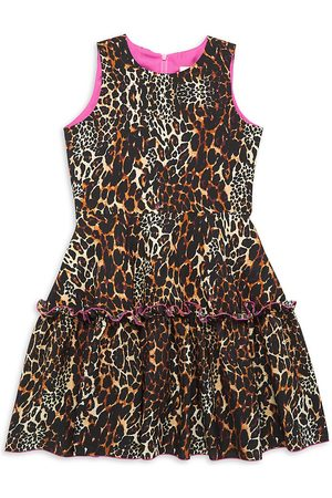 Zoe Girl's Cheetah Flirty Dress - - Size 7