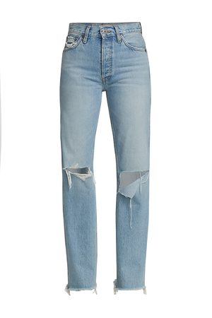 RE/DONE Women's 90s High-Rise Loose Straight Jeans - - Size 28 (6)