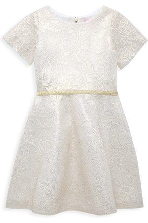 Zoe Girl's Metallic Lace Swing Dress - - Size 16
